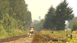 HD2009-6-27-13 oncoming freight train LLL Footage