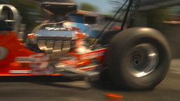 HD2009-6-27-17 motorsports, drag racing dragster burnout Stock Video Footage