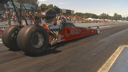 HD2009-6-27-19 motorsports, drag racing dragster launch Stock Video Footage
