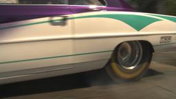 HD2009-6-27-23 motorsports, drag racing chevy nova burnout Stock Video Footage