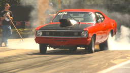 HD2009-6-27-27 motorsports, drag racing dodge burnout Stock Video Footage
