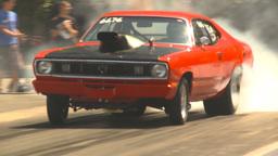 HD2009-6-27-27 motorsports, drag racing dodge burnout Stock Video Footage