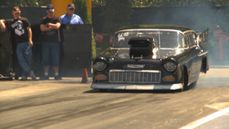 HD2009-6-27-29 motorsports, drag racing promod chey burnout Stock Video Footage