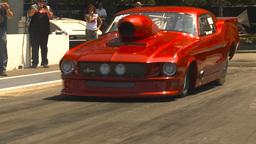 HD2009-6-27-33 motorsports, drag racing promod mustang burnout Footage