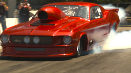 HD2009-6-27-33 motorsports, drag racing promod mustang... Stock Video Footage