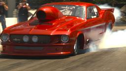 HD2009-6-27-33 motorsports, drag racing promod mustang... Stock Video Footage