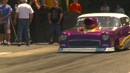 HD2009-6-27-35 motorsports, drag racing promod 55 chevy burnout Footage