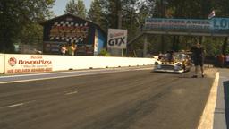 HD2009-6-27-37 motorsports, drag racing promod burnout Stock Video Footage