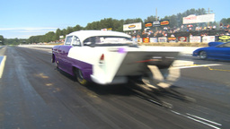 HD2009-6-27-45 motorsports, drag racing promod 55 chev launch Footage