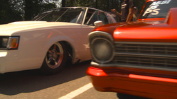 HD2009-6-27-71 motorsports, drag racing cars in the... Stock Video Footage