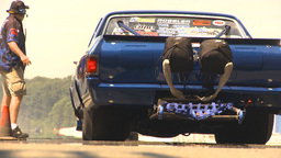 HD2009-6-27-73 motorsports, drag racing el camino burnout Stock Video Footage