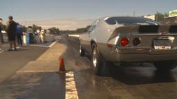 HD2009-6-27-75 motorsports, drag racing camaro burnout Stock Video Footage
