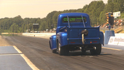 HD2009-6-27-77 motorsports, drag racing pickup launch Stock Video Footage
