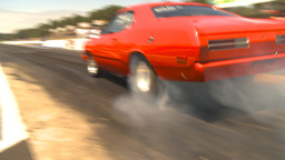 HD2009-6-27-79 motorsports, drag racing dodge burnout Stock Video Footage