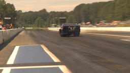 HD2009-6-27-81 motorsports, drag racing turbo launch Stock Video Footage
