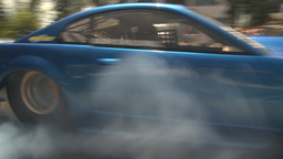 HD2009-6-27-83 motorsports, drag racing mustang burnout Stock Video Footage