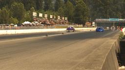 HD2009-6-28-10 Motorsports, drag racing, top end doorslammer Stock Video Footage