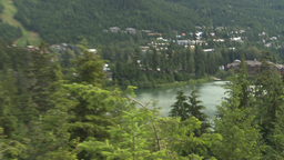 HD2009-6-29-5 Whistler Blackcomb and lake Z Stock Video Footage