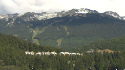 HD2009-6-29-9 Whistler Blackcomb ski hill Stock Video Footage
