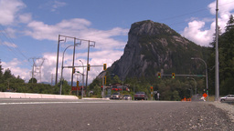 HD2009-6-30-4 Sea to sky highway with mountain Stock Video Footage