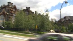 HD2009-6-30-12 whistler village pan Stock Video Footage