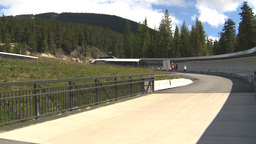 HD2009-6-30-16 whistler bobsled track montage Stock Video Footage
