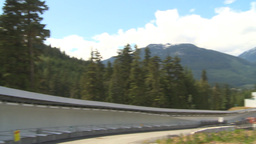 HD2009-6-30-16 whistler bobsled track montage Footage