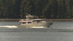 HD2009-6-31-4 pleasure boat follow Stock Video Footage