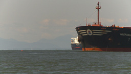 HD2009-6-31-16 cargo ship approaches Stock Video Footage