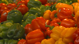 HD2009-6-31-36 Granville island market fruits and veggies... Stock Video Footage