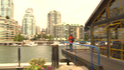 HD2009-6-31-42 Granville island false creek condos Stock Video Footage
