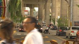 HD2009-6-32-9 traffic in market Stock Video Footage