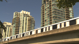 HD2009-6-32-20 condos and skytrain Stock Video Footage