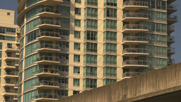 HD2009-6-32-22 condos and skytrain generic Stock Video Footage