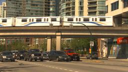 HD2009-6-32-26 traffic skytrain and condos Footage