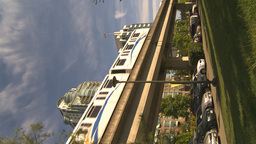 HD2009-6-32-31 skytrin and condo VERTICAL Stock Video Footage