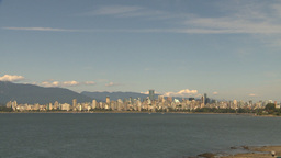 HD2009-6-32-33 vancouver skyline Stock Video Footage