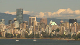 HD2009-6-32-35 vancouver skyline Stock Video Footage