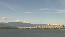 HD2009-6-32-37 vancouver skyline Stock Video Footage