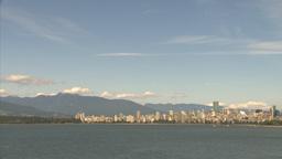 HD2009-6-32-37 vancouver skyline Stock Video Footage