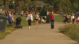 HD2009-6-32-51 people on walkway Stock Video Footage