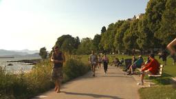 HD2009-6-32-53 people on walkway Stock Video Footage