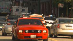 HD2009-6-33-1 polic ecars 2shot Stock Video Footage