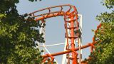HD2009-6-33-9 Loop Rollercoaster stock footage
