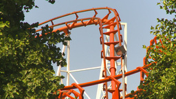 HD2009-6-33-9 loop rollercoaster Stock Video Footage