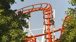 HD2009-6-33-9 loop rollercoaster Stock Video Footage