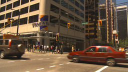 HD2009-6-33-27 downtown traffic Stock Video Footage