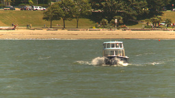 HD2009-6-33-35 aqua bus in waves Stock Video Footage
