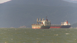 HD2009-6-33-37 cargo ships windy Stock Video Footage