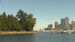 HD2009-6-34-4 stanley park and skyline Stock Video Footage